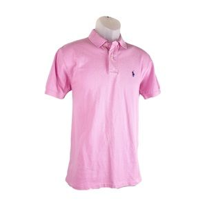 Polo Ralph Lauren Pink Shoot Sleeve Shirt Pony